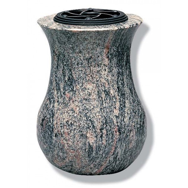 Vase funéraire tourné en granit - T38-25