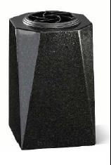 Vase funéraire carré en granit - V01-25