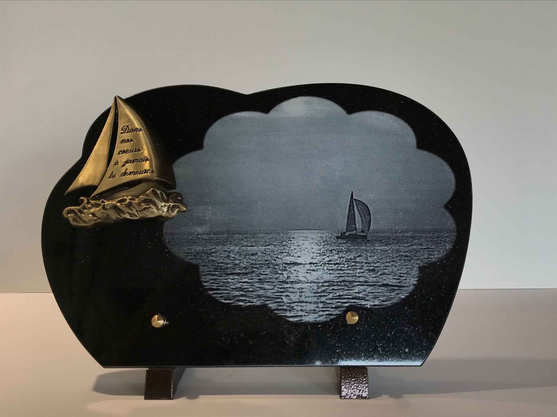 Plaque motif bateau