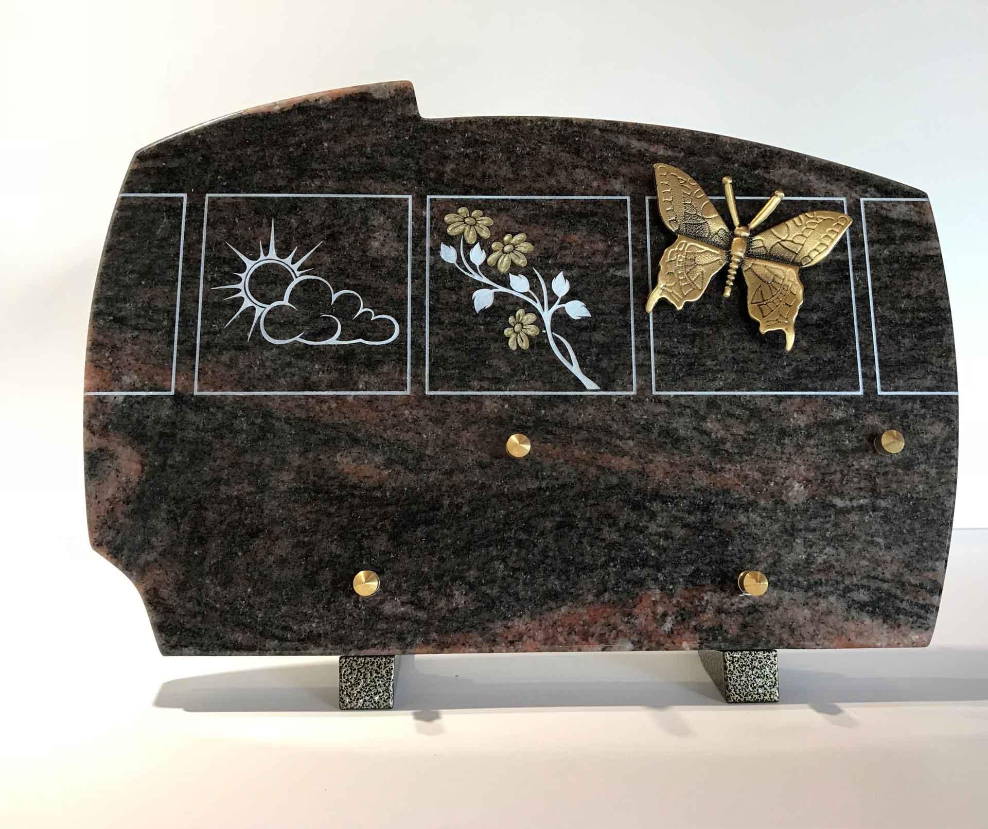 Plaque granit souvenir