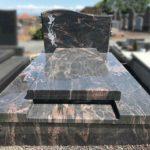 Monument funéraire avec lithogravure - Marbrerie Borro